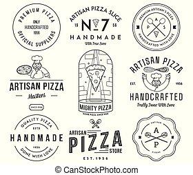 artigiano, qualità, fatto mano, premio, pizza