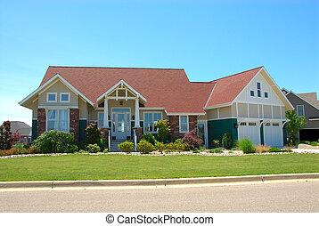 Casa nubi storia nubi seduta casa due hill for Bungalow in stile artigiano