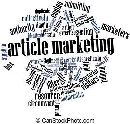 artikel, markedsføring
