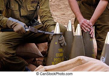 artilleri, kår, -, israel