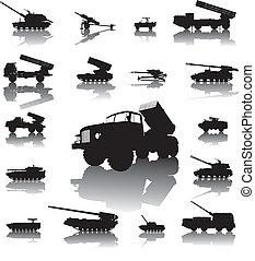 artillerie, set