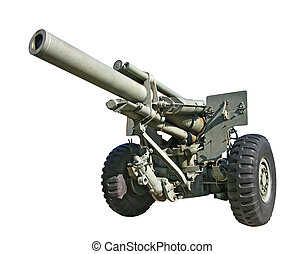 Artillery Gun - Photo of an old artillery gun.