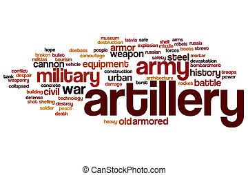 Artillery word cloud