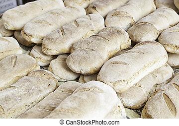 Artisan bread in a market