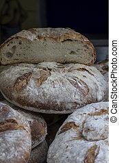 artisan bread in ancient medieval fair, Spain