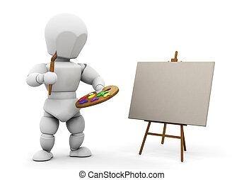 Artist - 3D render of an artist