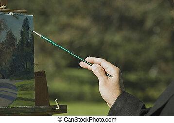 artist at work - artist, man, accomplished, profeshional, ...