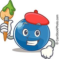 Artist blueberry character cartoon style