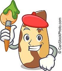 Artist brazil nut character cartoon