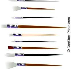 Artist brushes