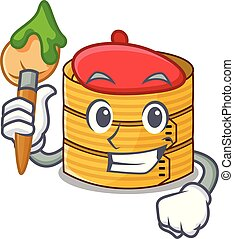 Artist character steamed bamboo for food tool