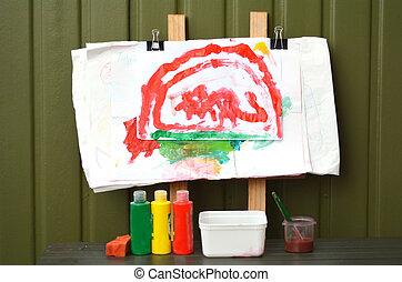 Artist child painting