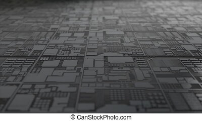 """""""Computer generated, close up silicon chip production."""""""