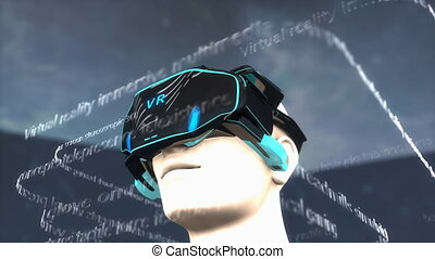 """Computer generated, Artist concept, Virtual Reality headset, device."""