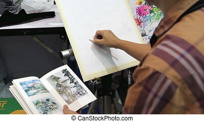 artist drawing picture
