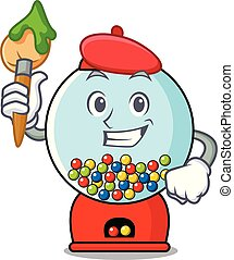 Artist gumball machine character cartoon