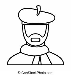 Artist icon, outline style