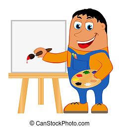 Artist on a white background