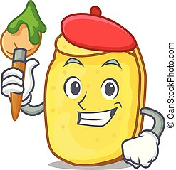 Artist potato chips character cartoon