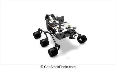 Mars rover - Artist recreation of Mars rover. Alpha Matte...