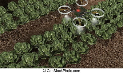 Artist rendering agricultural robotic drone