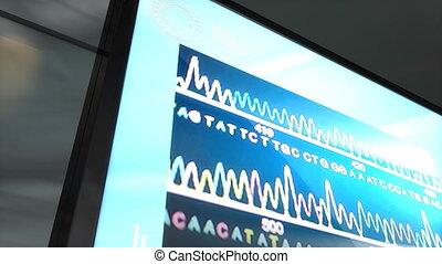 DNA matching - Artist rendering  DNA matching technology.
