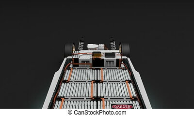 """""""Artist rendering EV battery pack, Electric vehicle Lithium-Ion."""""""