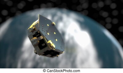 """Computer generated, Artist rendering, LISA pathfinder mission"""