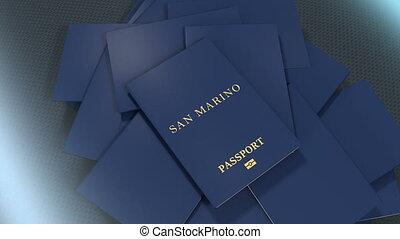 Artist rendering San Marino travel passport.