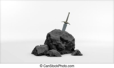 """""""Computer generated, Medieval stone sword."""""""