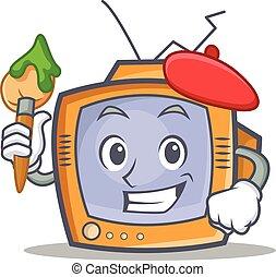 Artist TV character cartoon object