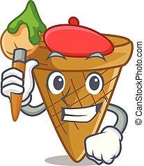 Artist wafer cone character cartoon