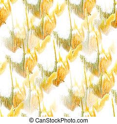 artist yellow, green, white seamless watercolor wallpaper...