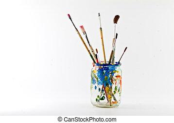 artista, cepillos