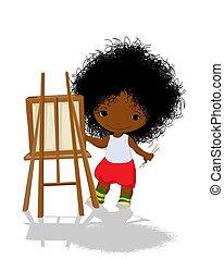 artista, piccola ragazza
