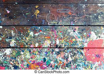 artistas, textura, pintado, construido, taller, estudio, ...
