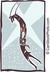 artistas, trapecio, amaestrado