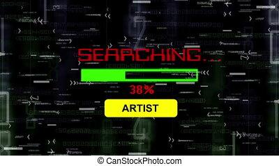 artiste, recherche, ligne