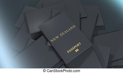 artiste, rendre, nouveau, voyage, zélande, passport.
