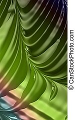 Artistic and imaginative digitally designed abstract 3D fractal background