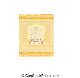 Artistic Buddhism Pattern
