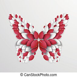 Artistic butterfly design