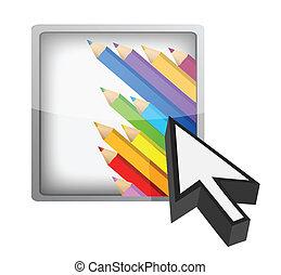 artistic button and cursor