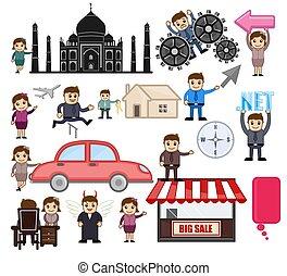 Artistic Cartoon Concepts Set