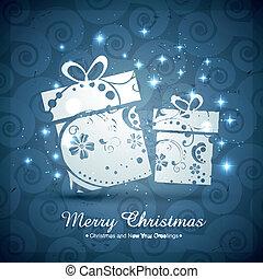 artistic christmas gift box