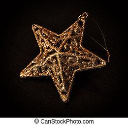 Artistic christmas star on the dark background