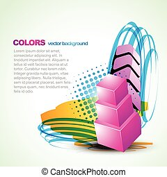 artistic colorful vector background