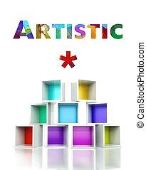 Artistic concept colorful 3d design illustration