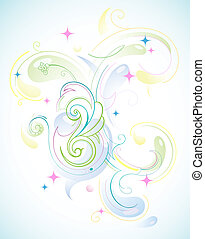 Artistic design - Abstract background with decorative...