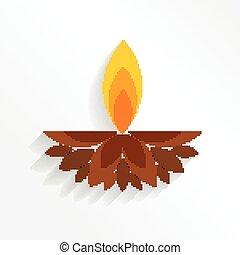 Artistic diwali background